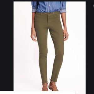 Old Navy Rockstar green jeans 8